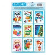 Наклейки новогодняя почта