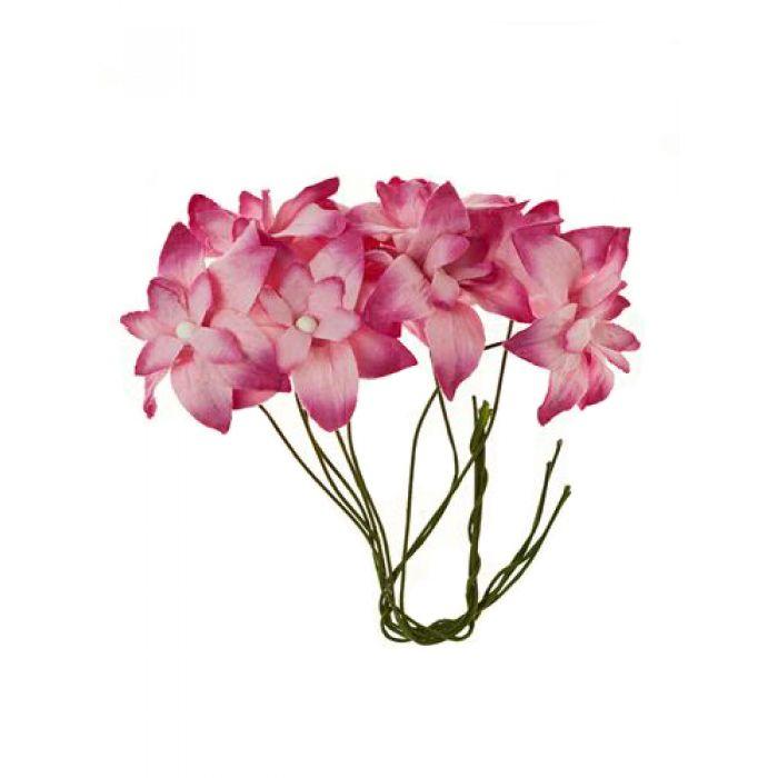 Нарциссы розовые для скрапбукинга