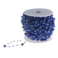 Нить из бусинок шарики, цвет синий