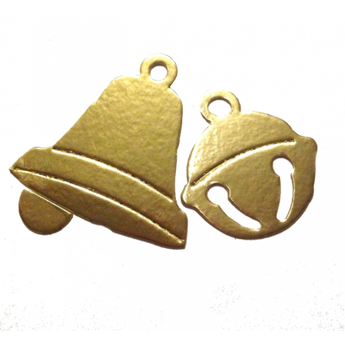 Новогодние колокольчики золотые для скрапбукинга