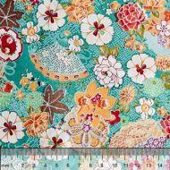 Отрез ткани цветочные мотивы