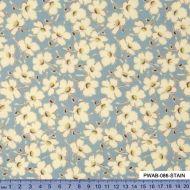 Отрез ткани цветы голубые, коллекция Цыганский карнавал