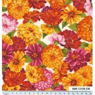 Отрез ткани цветы, коллекция садовые цветы