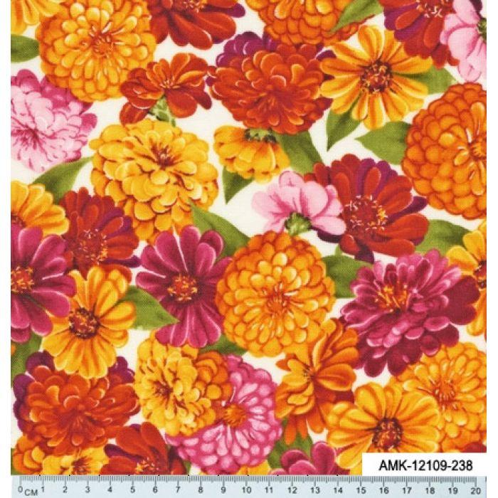 Отрез ткани цветы, коллекция садовые цветы для скрапбукинга