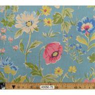 Отрез ткани цветы на голубом, коллекция Поэзия цветов