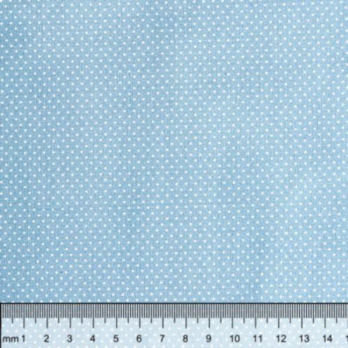 Отрез ткани горошек на голубом для скрапбукинга