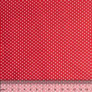 Отрез ткани горошек на красном
