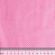 Отрез ткани горошек на розовом