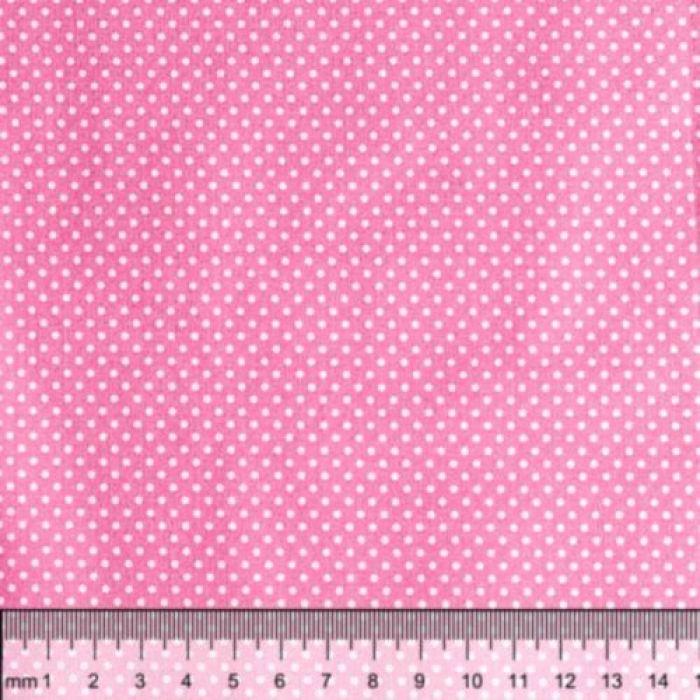 Отрез ткани горошек на розовом для скрапбукинга