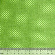 Отрез ткани горошек на зелёном