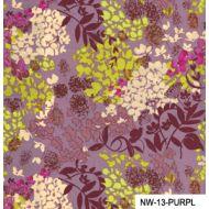 Отрез ткани лиловые цветы, коллекция Спящая красавица