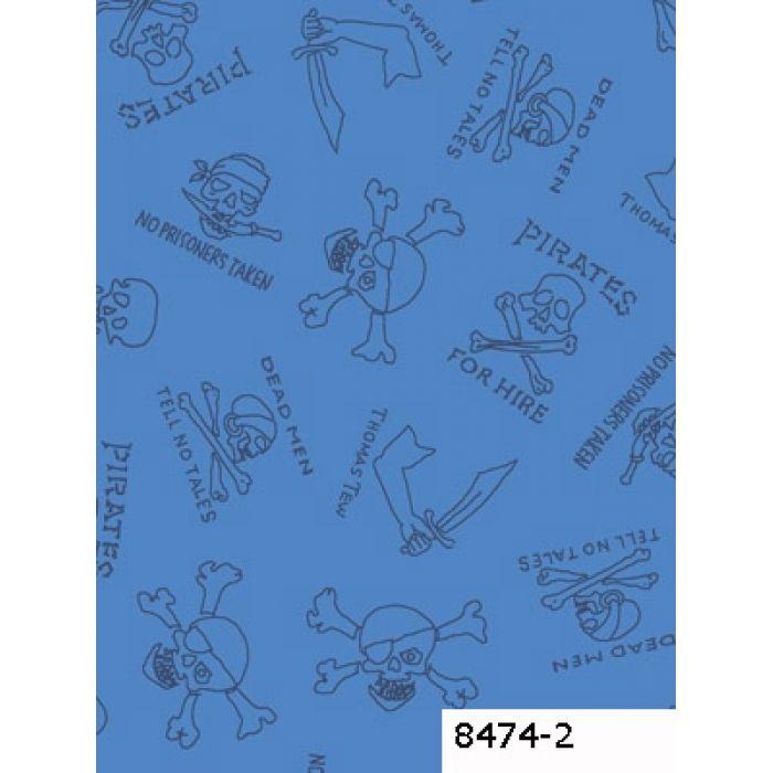 Отрез ткани Пираты синие для скрапбукинга