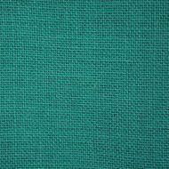Отрез ткани рогожка зелёная бирюза