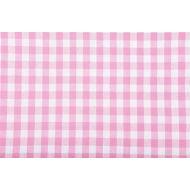 Отрез ткани розовый, коллекция кухонная клетка