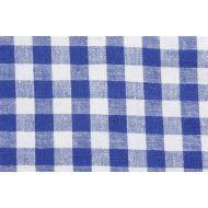 Отрез ткани синий, коллекция кухонная клетка