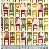 Отрез ткани стулья на белом, коллекция любимая кухня