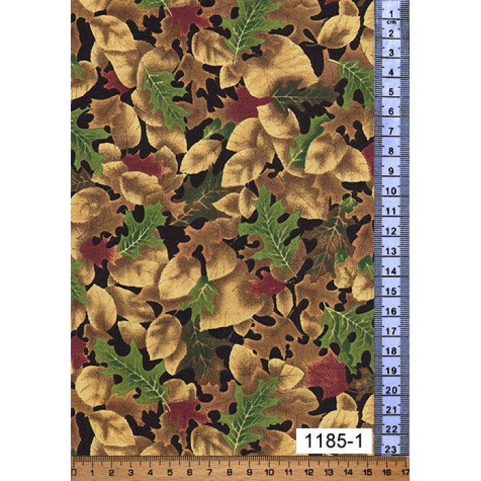 Отрез ткани зелено-корично-золотой, коллекция Индюки и фазаны для скрапбукинга