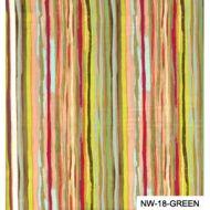 Отрез ткани зелёные полоски, коллекция Спящая красавица
