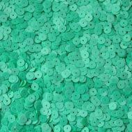 Пайетки глянец зеленые 6мм