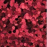 Пайетки хром красные 6мм