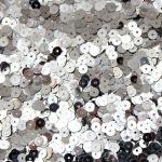 Пайетки хром серебро 6мм