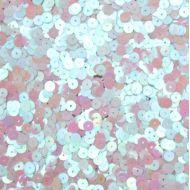 Пайетки перламутровые белые 6мм