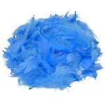 Перья декоративные светло-голубые