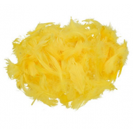 Перья декоративные желтые