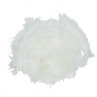 Перья марабу белые, 80 - 100 мм