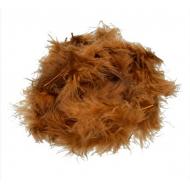Перья марабу коричневые