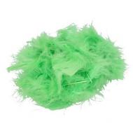 Перья марабу светло-зеленые