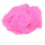 Перья марабу ярко - розовые