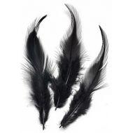 Перья петушиные чёрные