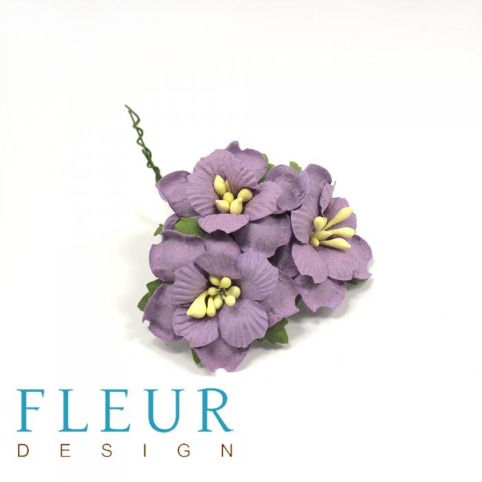 Пионы фиолетовые 3,5 см для скрапбукинга