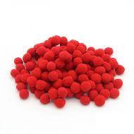 Помпоны красные 1 см