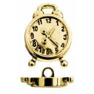 Пуговица будильник золотой 21 мм