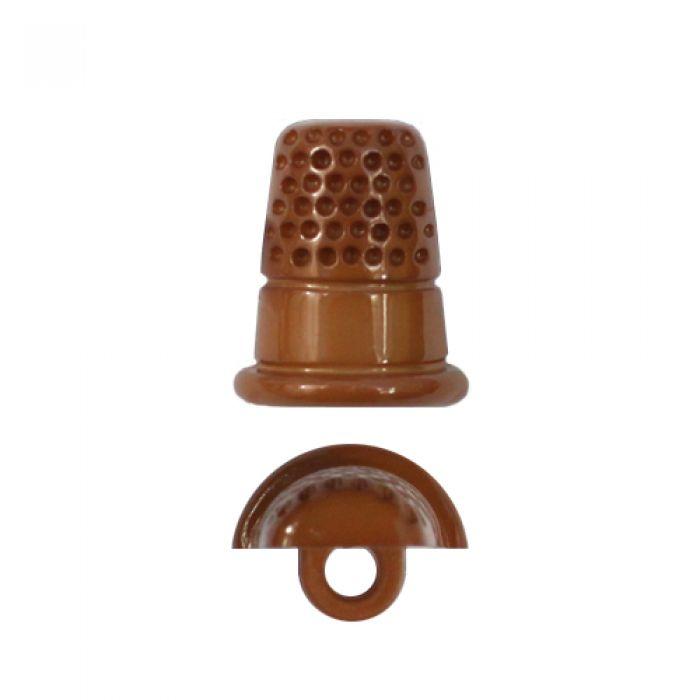 Пуговица наперсток коричневый 21мм  для скрапбукинга
