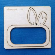 Рамка прямоугольная  с заячьими ушками