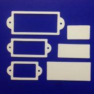 Рамки 2, вырубка из белого картона