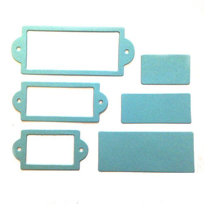 Рамки 2, вырубка из голубого картона для скрапбукинга