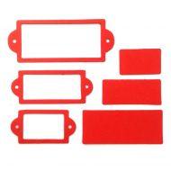 Рамки 2, вырубка из красного картона