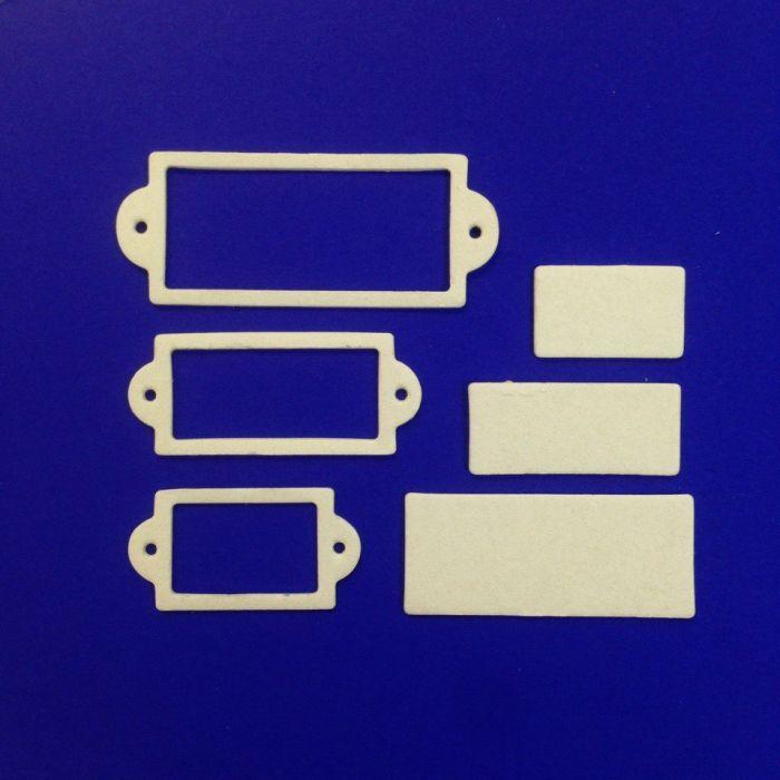 Рамки 2, вырубка из пивного картона для скрапбукинга