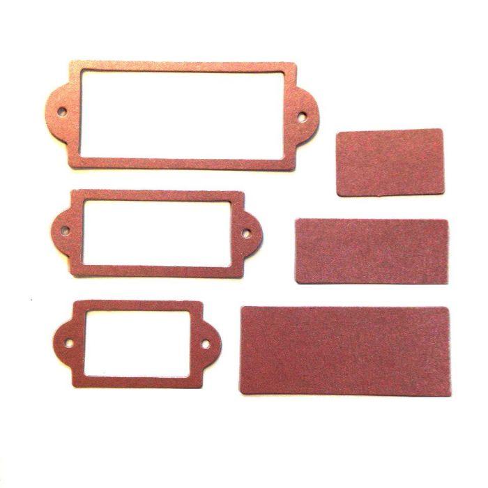 Рамки 2, вырубка из старо-розового картона для скрапбукинга