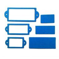 Рамки 2, вырубка из ярко-голубого картона