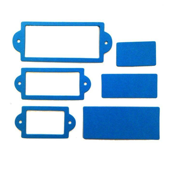 Рамки 2, вырубка из ярко-голубого картона для скрапбукинга