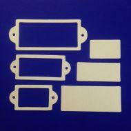 Рамки 2, вырубка из жемчужного картона