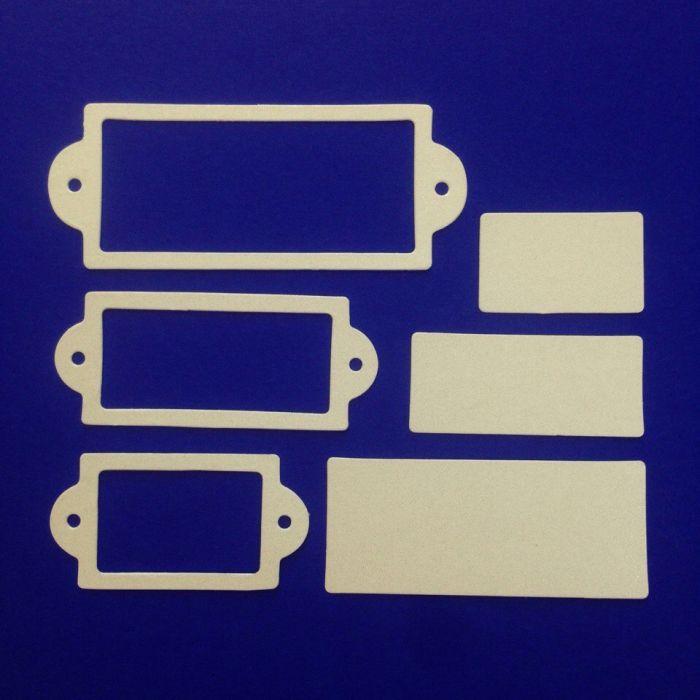 Рамки 2, вырубка из жемчужного картона для скрапбукинга