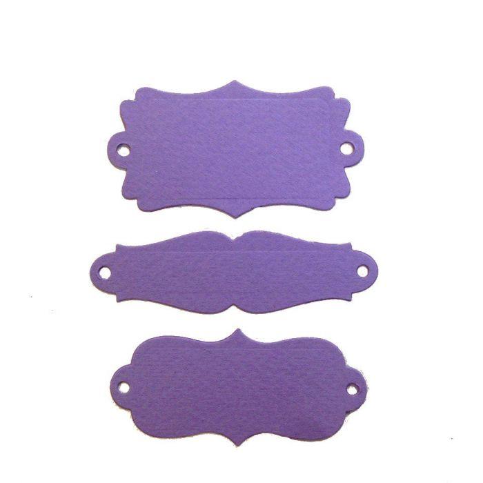 Рамки, вырубка из фиолетового картона для скрапбукинга