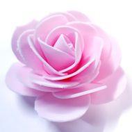 Роза из фоамирана светло-розовая 7см