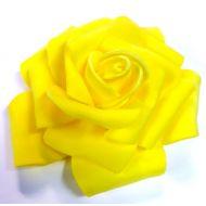Роза из фоамирана желтая 7см